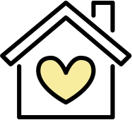 House with a yellow heart