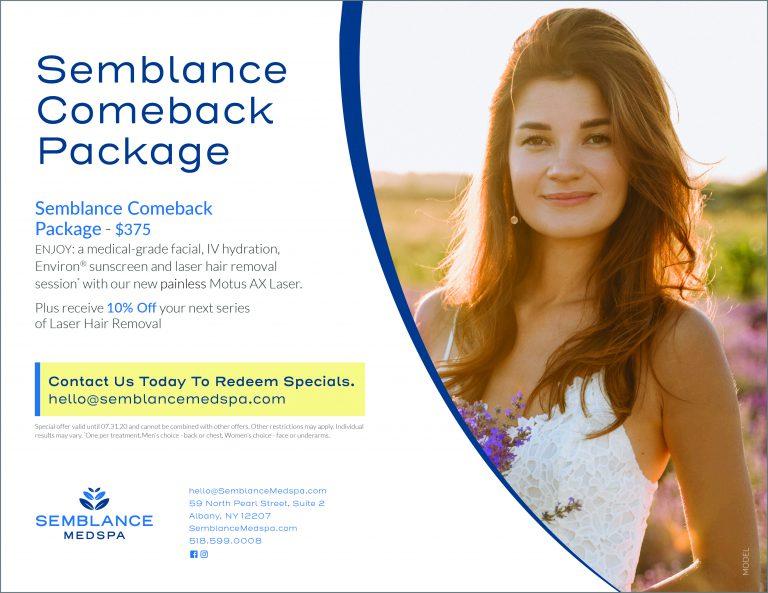 Comeback Package at Semblance Medspa in Albany, NY